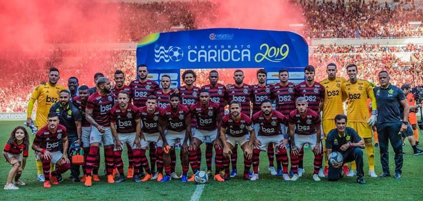 RJ - CAMPEONATO CARIOCA/FLAMENGO X VASCO - GERAL - Time posado do Flamengo antes da partida contra o Vasco válida pela final do Estadual do   Rio de Janeiro 2019, no Estádio do Maracanã, na zona norte do Rio, na tarde deste domingo   (21).     21/04/2019 - Foto: MAGALHÃES JR./PHOTOPRESS/ESTADÃO CONTEÚDO