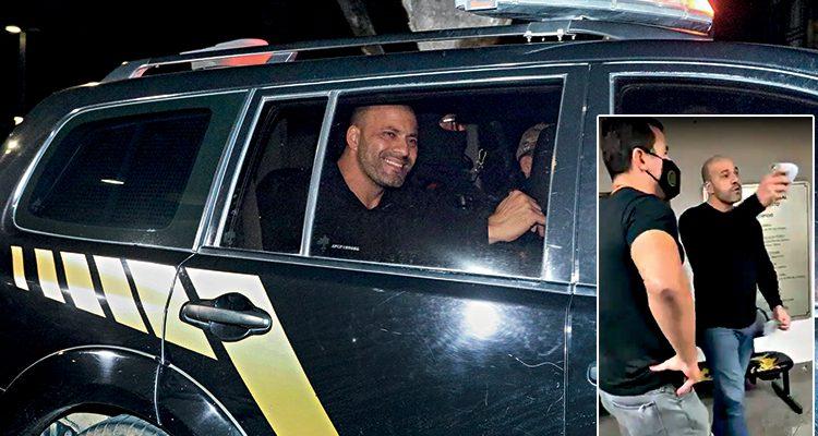 Daniel Silveira chega a Policia Federal do Rio de Janeiro após receber ordem de prisão emitida pelo STF - Fotos, Aline Massuca/Metrópoles